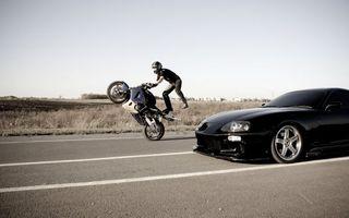 Фото бесплатно мотоциклист, авто, машина