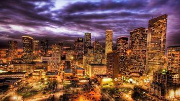Бесплатные фото ночной, нью-йорк, америка, дома, небоскребы, свет, окна