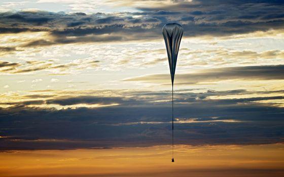 Фото бесплатно парашют, небо, облака
