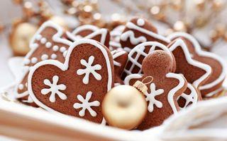 Фото бесплатно печенье, сердечко, коврижка