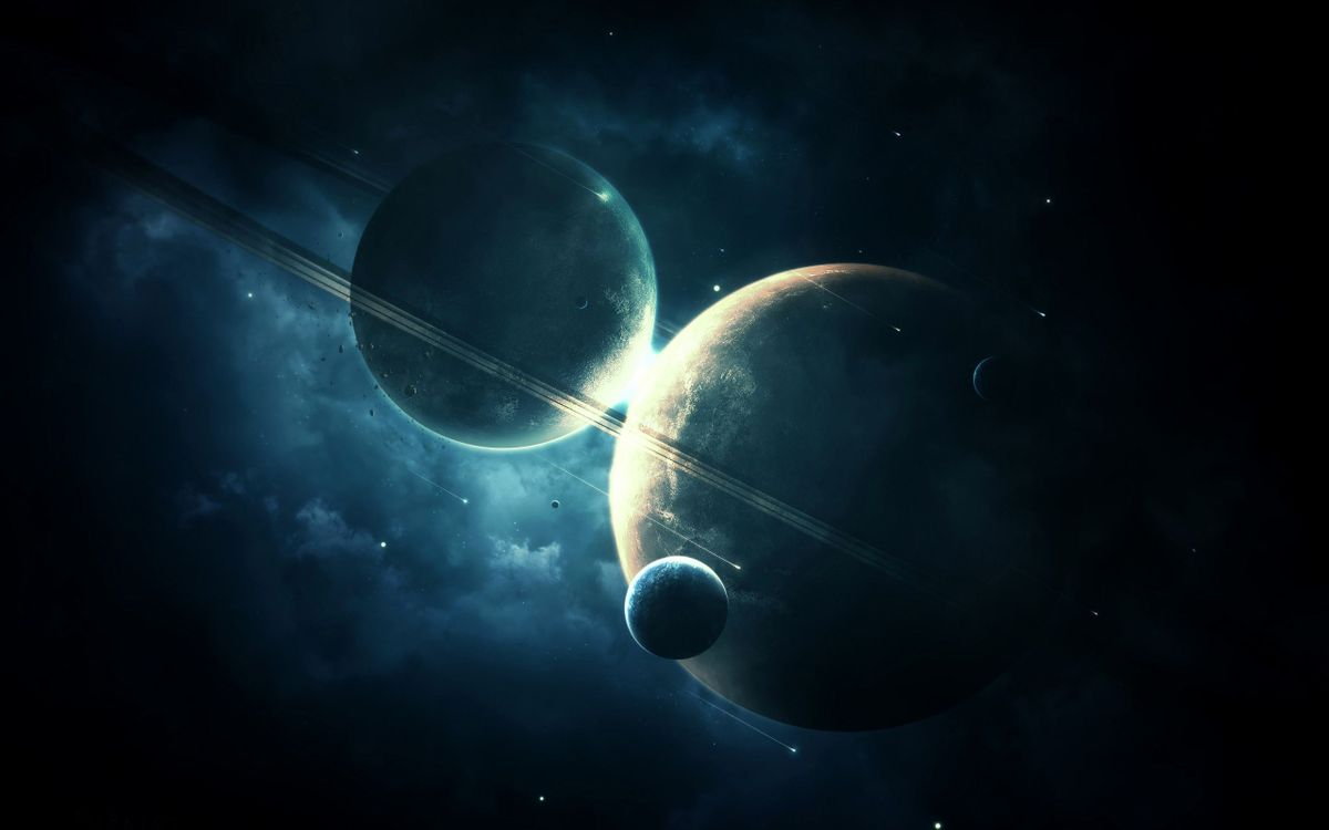 Фото бесплатно планеты и спутники, вселенная, звёзды - на рабочий стол