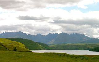 Бесплатные фото предгорье,холмы,горы,озеро,небо,облака,природа