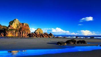 Бесплатные фото река,море,камни,скала,небо,голубое,горизонт