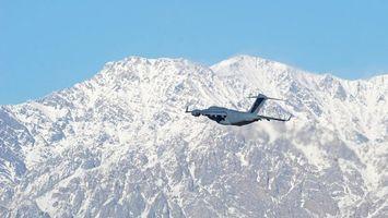 Фото бесплатно самолет, крылья, горы