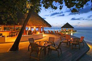 Бесплатные фото тропики,море,пляж,ресторан,вечер,разное