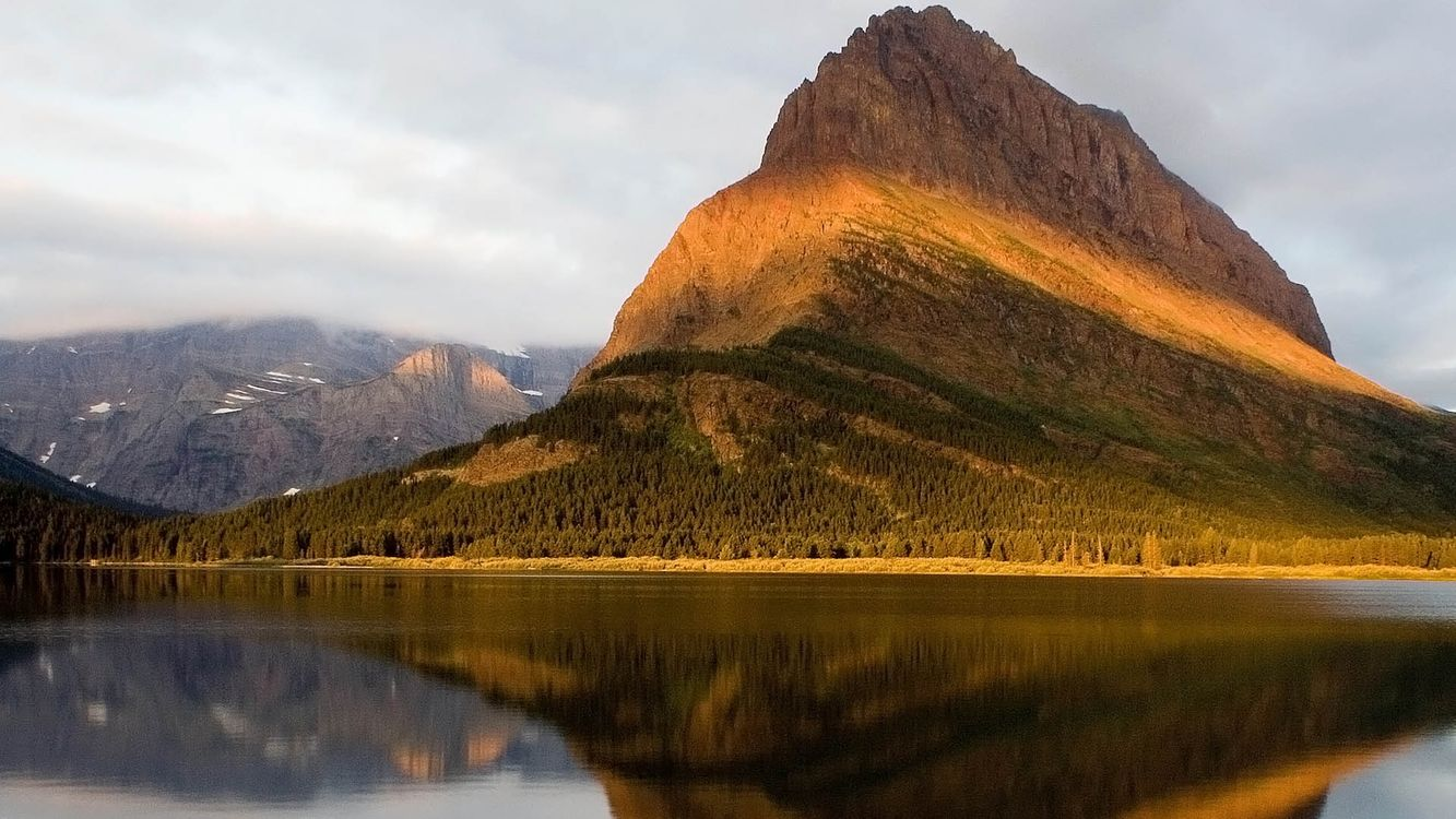 Фото бесплатно вода, горы, лес, деревья, трава, небо, туман, природа, природа - скачать на рабочий стол