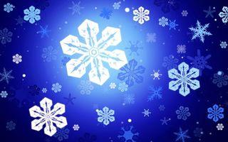 Бесплатные фото заставка, фон, зима, синий, белые, снежинки, узор