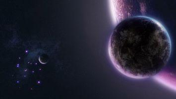 Бесплатные фото новый мир,планеты,3 планеты,жизнь,созвездие,галактика,космос