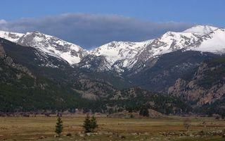 Фото бесплатно горы, снег, склон