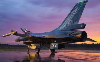 Фото бесплатно истребитель, самолет, асфальт