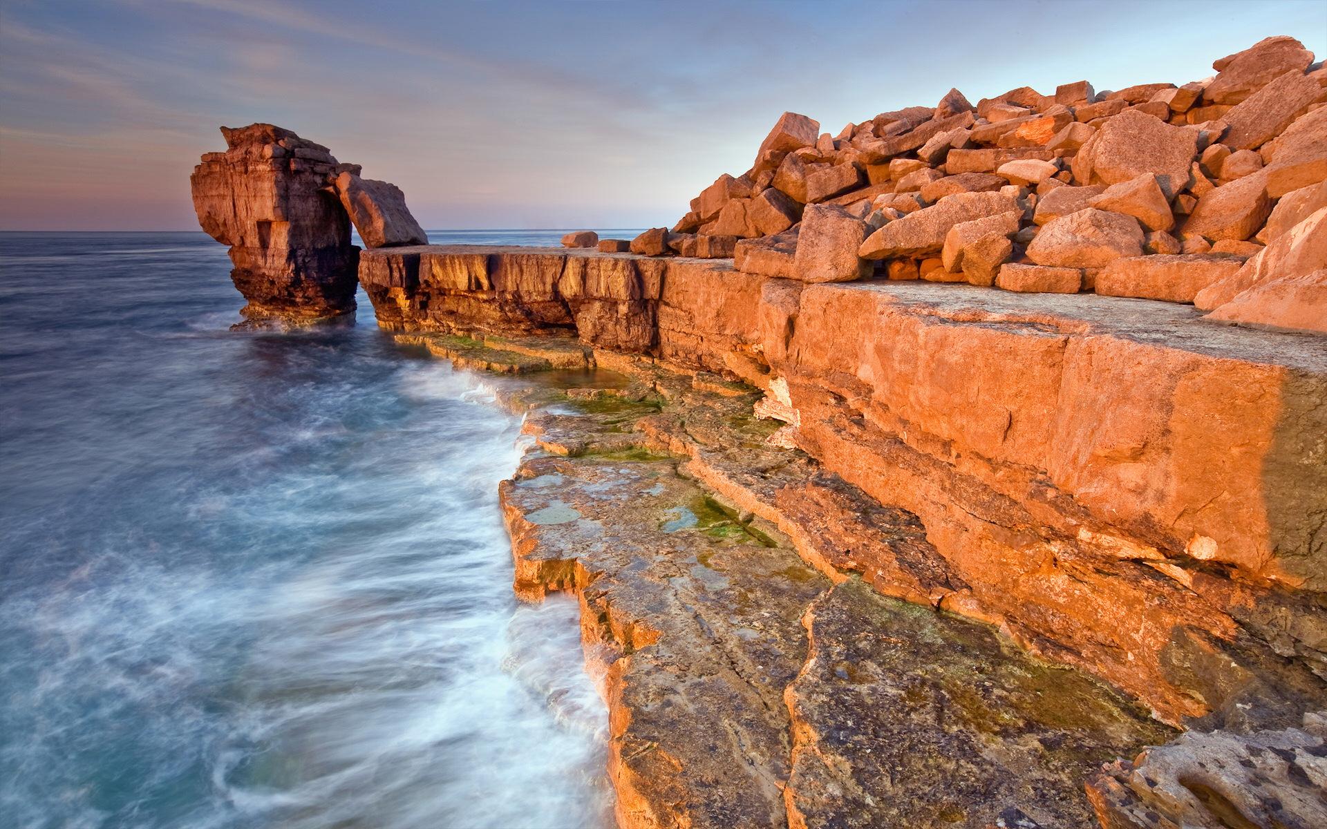каменистый ландшафт прибой небо без смс
