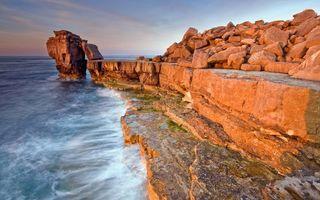 Бесплатные фото камни,скалы,горы,песок,море,океан,волны