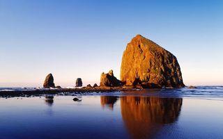 Бесплатные фото море, скала, небо, вода, камни, природа