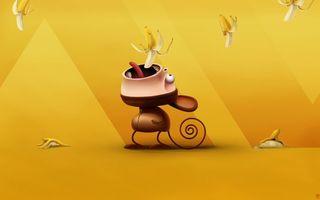 Фото бесплатно оранжевой, фон, обезьяна