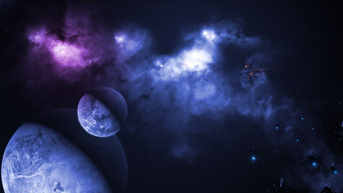 Фото бесплатно планета, земля, спутник - на рабочий стол