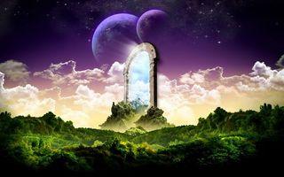 Бесплатные фото планеты,спутник,кусты,деревья,небо,облака,звезды