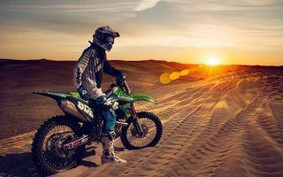 Фото бесплатно ралли, мотоцикл, кавасаки
