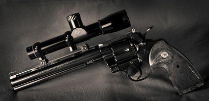 Бесплатные фото револьвер, прицел, курок, дуло, рукоятка, гравировка, надпись