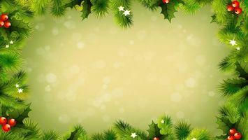 Бесплатные фото рождество,ветки,украшения,листья,ягоды,красные,блики
