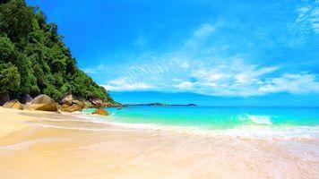 Фото тропики, море, пляж на рабочий стол