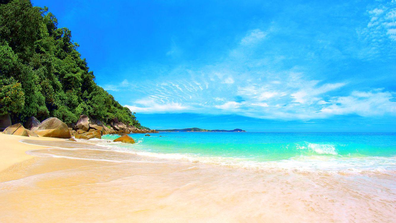 Обои тропики, море, пляж, пейзажи на телефон   картинки пейзажи