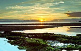 Бесплатные фото закат,солнца,берег,залив,море,горы,небо