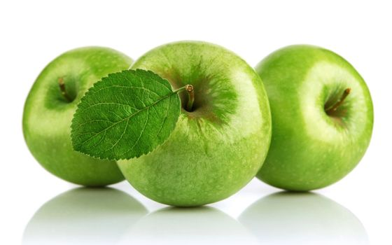 Photo free green, apples, leaf