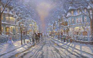 Бесплатные фото christmas, decoration, winter, cape may christmas, painting, snow, robert finale