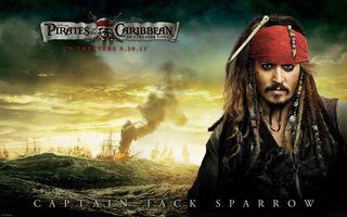 Бесплатные фото джек воробей,пираты,карибского,моря,океан,корабли в огне,постер