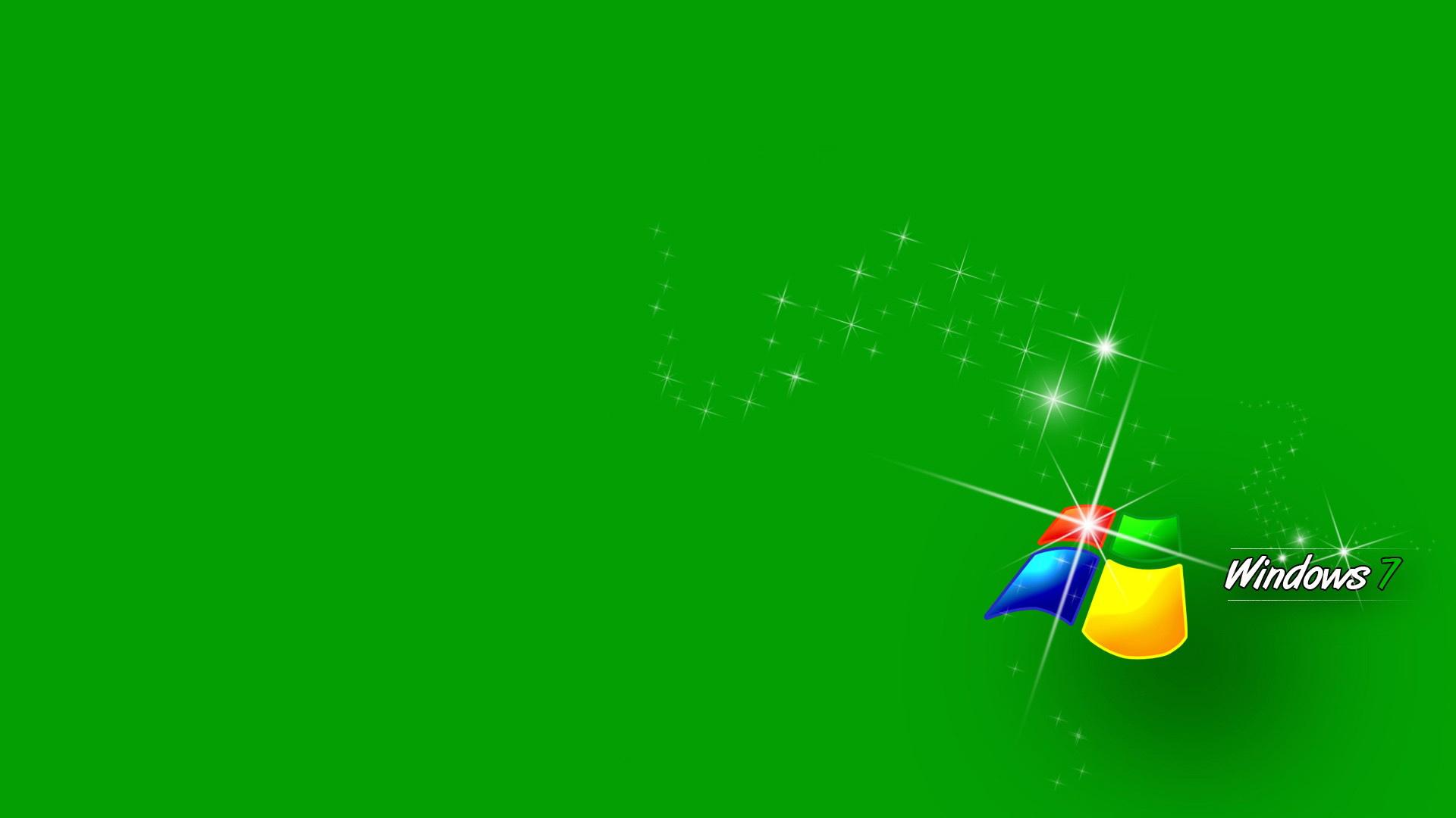 windows 7, зеленый, фон