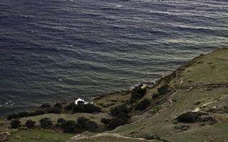 Бесплатные фото берег, гора, кустарник, часовня, белая, море, разное