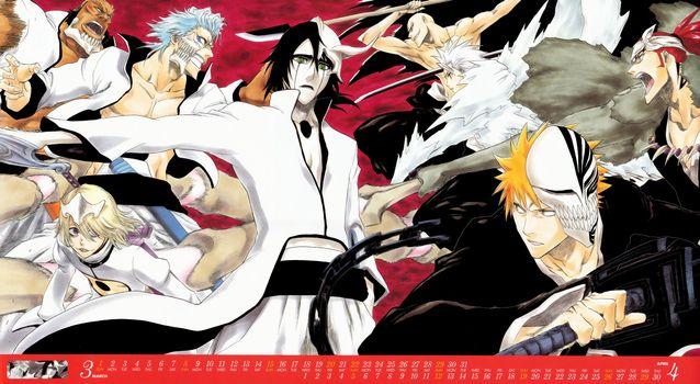 Бесплатные фото bleach,soul reapers,espada,battle,аниме