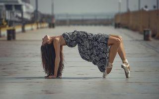 Фото бесплатно девушка, танец, платье
