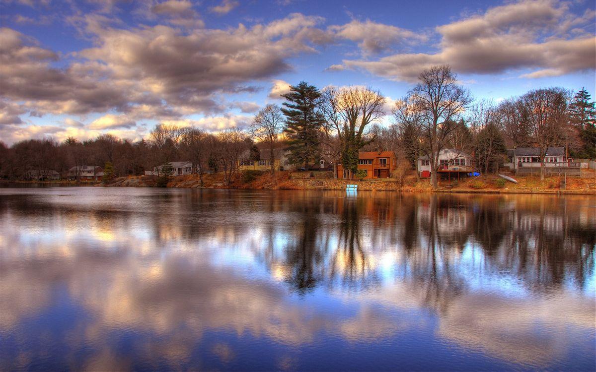 Фото бесплатно дома, небо, тучи - на рабочий стол
