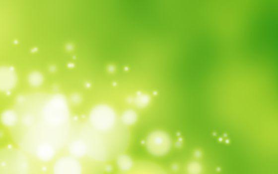 Фото бесплатно абстракция, огоньки, зеленый фон
