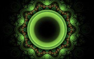 Обои фон, черный, круги, зеленый, линии, узор, орнамент, искусство, абстракции