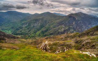 Фото бесплатно спуск, облака, природа