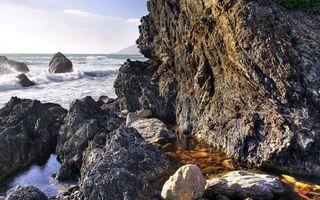 Бесплатные фото камень,скала,обрыв,море,океан,вода,волны
