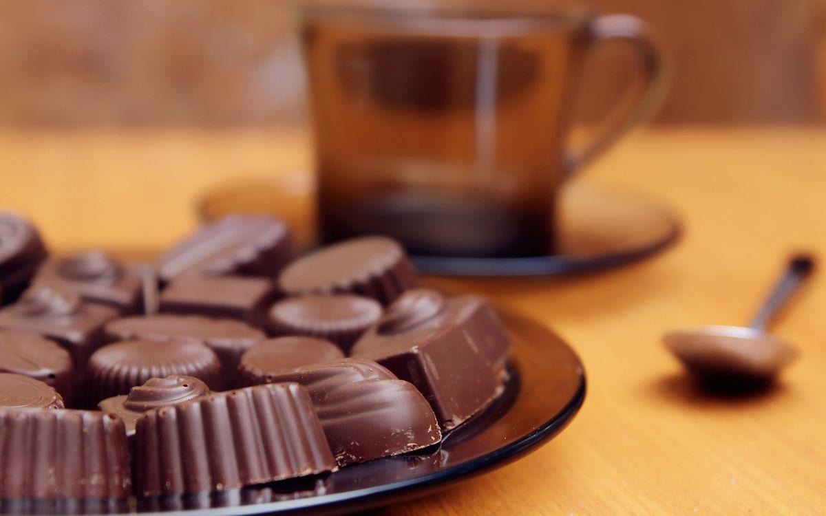 Фото бесплатно конфеты, чай, шоколад - на рабочий стол