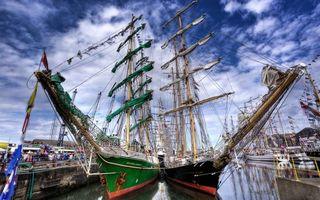 Бесплатные фото корабли,палуба,паруса,причал,море,океан,люди