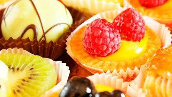 Бесплатные фото крем, салфетка, киви, малина, шоколад, еда