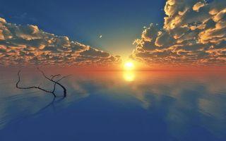 Фото бесплатно море, небо, закат