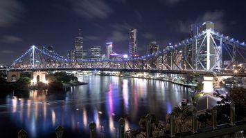 Фото бесплатно мост, улица, дорога