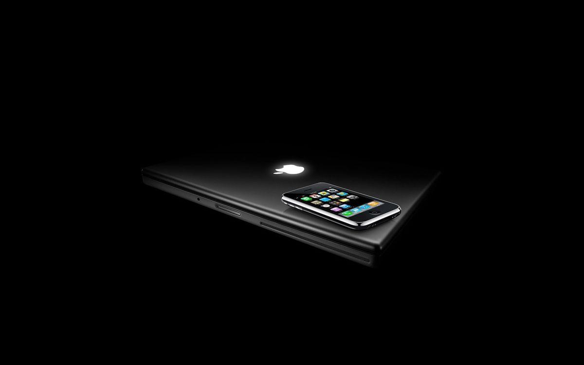 Фото бесплатно ноутбук, айфон, апл, эмблема, экран, сенсор, hi-tech, hi-tech