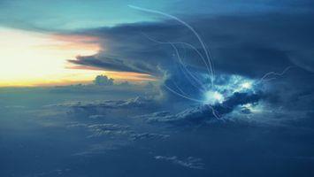 Фото бесплатно облака, тучи, небо, гроза, молнии, земля, горизонт, пейзажи