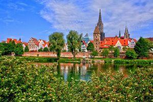 Заставки пейзаж, германия, какой-то город, город