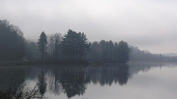 Фото бесплатно горы, туман, вода