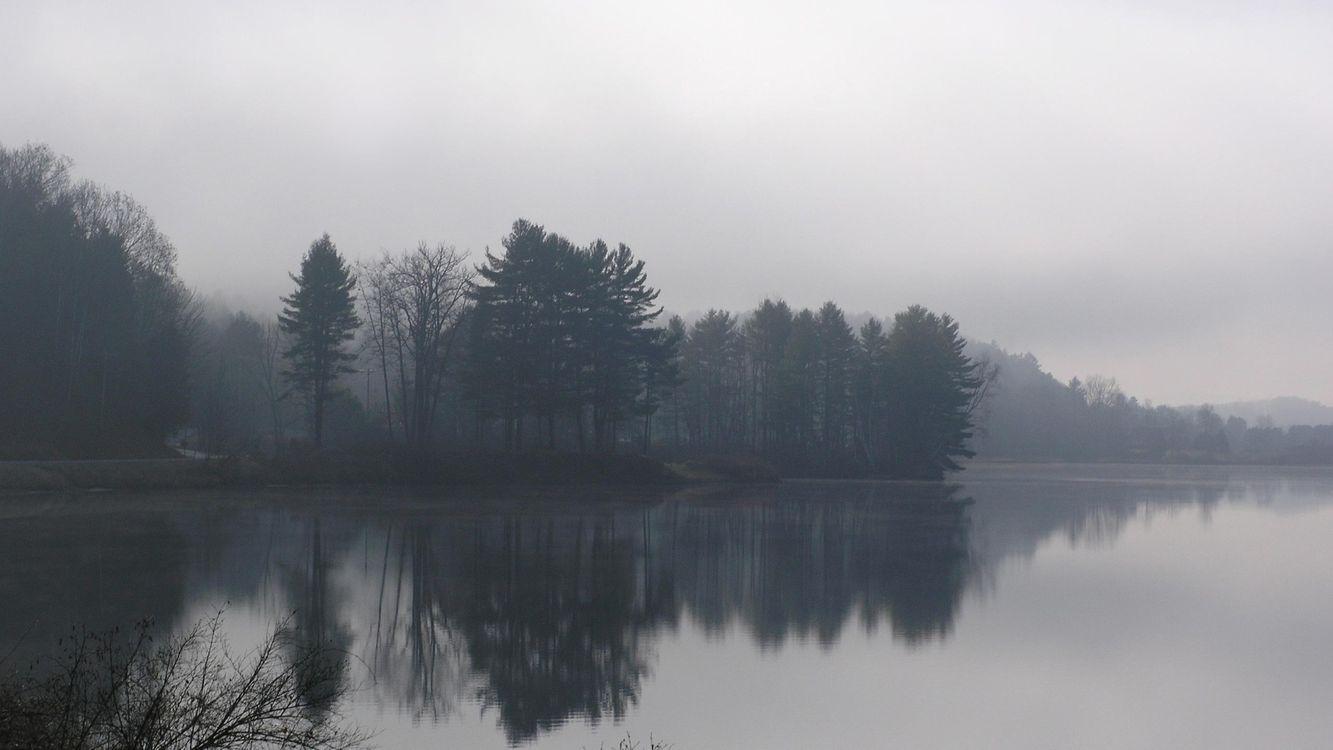 Фото бесплатно горы, туман, вода - на рабочий стол