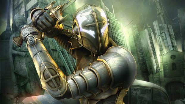 Фото бесплатно рыцарь, меч, защита