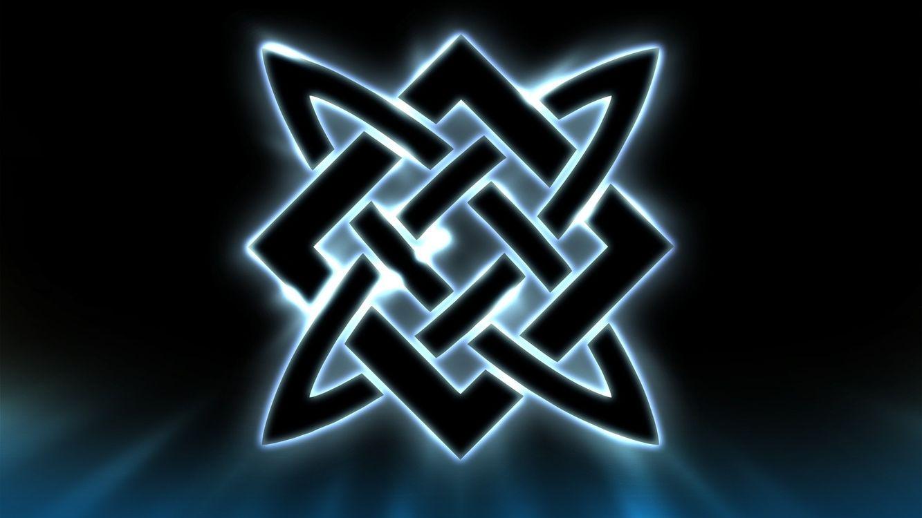 Фото бесплатно символ, знак, квадрат, сварога, полосы, светятся, разное, разное